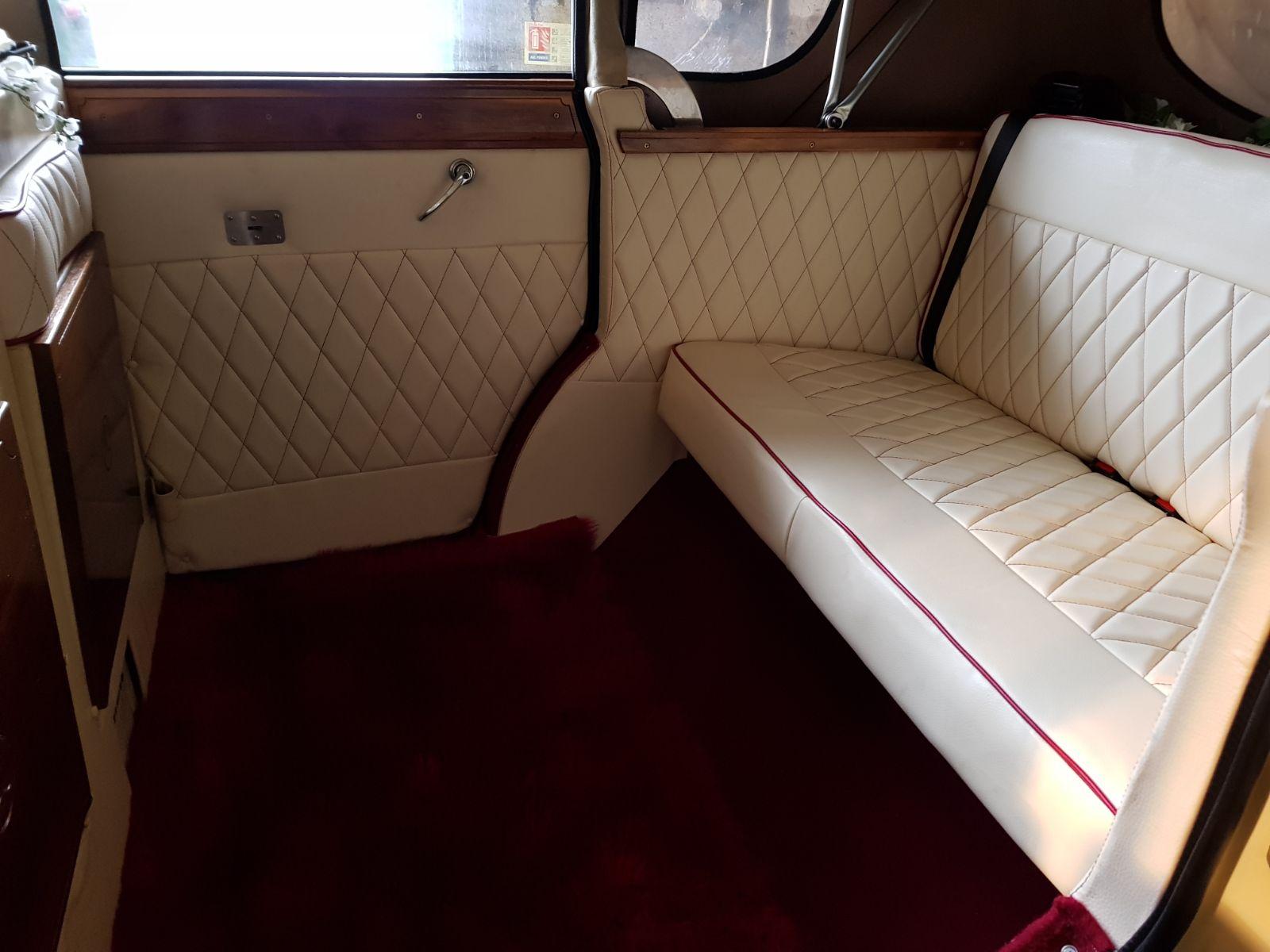 Bonnie Inside Wedding Car