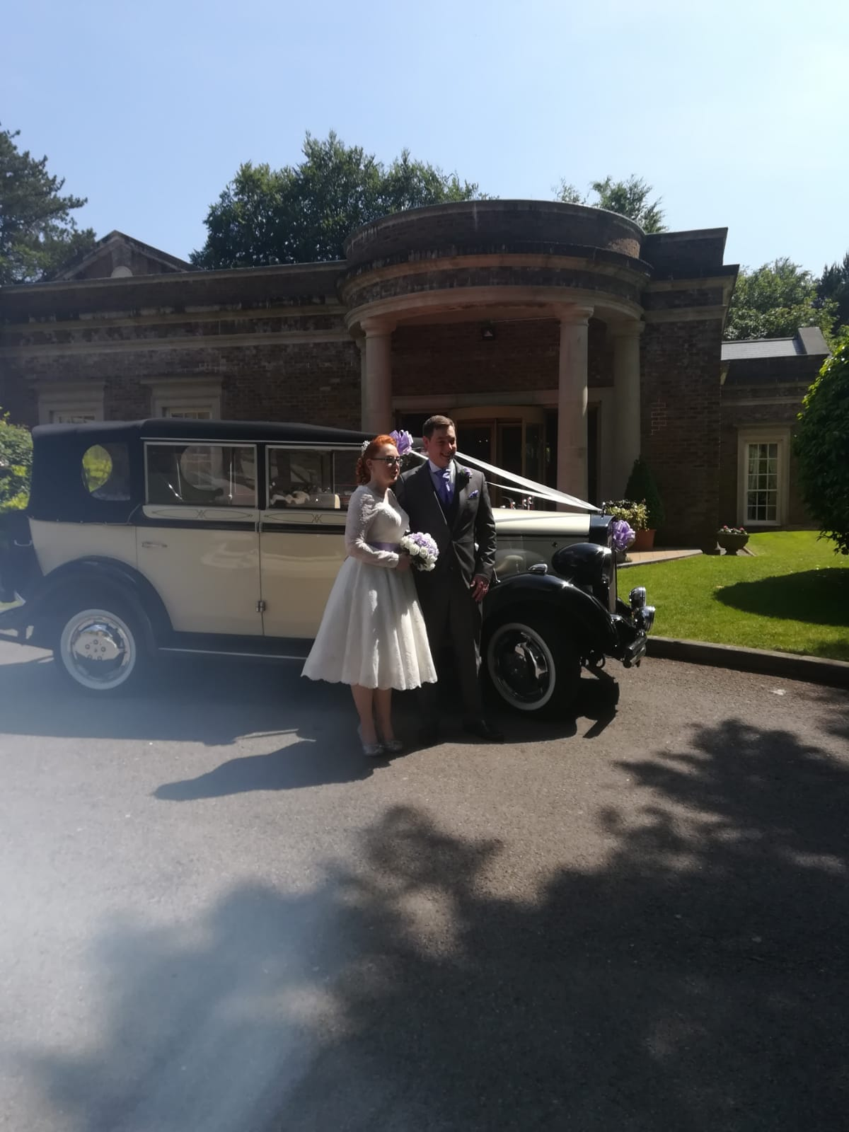 Mair and Gareth at Decourceys Manor