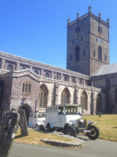 Elin and Michael at St David's Cathedral