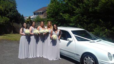 Melissa and Gareth and bridesmaids